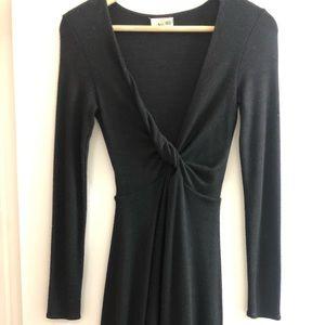 XXS long sleeve Wilfred Free black knit dress.